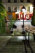 photo paysages montmartre paris escalier sacre coeur : Montmartre - Rue Du Calvaire