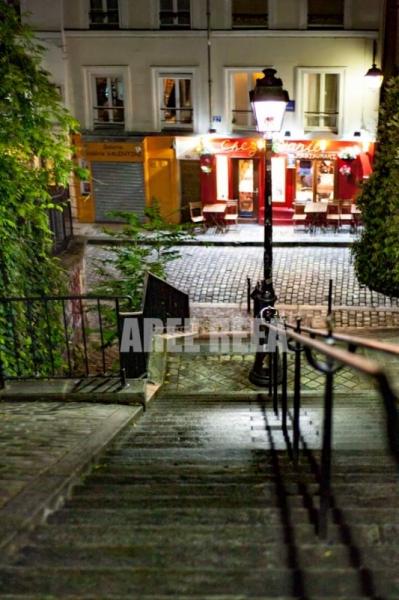 PHOTO Montmartre Paris Escalier Sacré Coeur Paysages  - Montmartre - Rue Du Calvaire