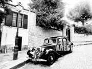 photo villes citroen paris montmartre paysage : Traction Avant