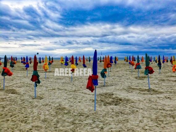 PHOTO Deauville Les PLanches Normandie Mer Paysages  - Deauville - La Plage