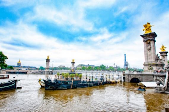 PHOTO Paris Tour Effeil Pont Alexandre III La Seine Paysages  - Paris - La Seine En Crue