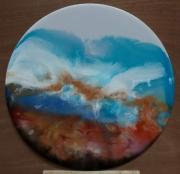 tableau abstrait abstrait zen resine deco : Crazy Waves