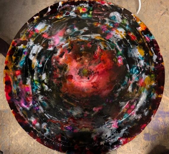 MIXTE Peinture Couleurs vivante decoration Abstrait  - Swirl of colors