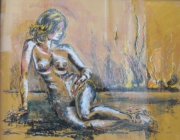 autres nus : nu au feu