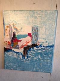 Abstrait lit mer