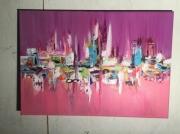 tableau : Abstrait rose violet