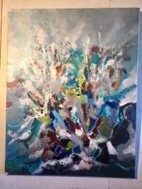 Abstrait fond mer bleu