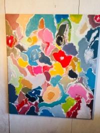 Abstrait fleurs pleines