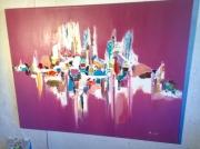 tableau : Abstrait rose grd