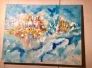 tableau : Abstrait bleu plein ciel