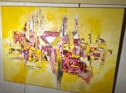 tableau : Abstrait grd jaune