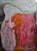 autres abstrait labyrinthe encre huile papier : LE LABYRINTHE