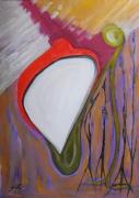 autres abstrait huile encre abstrait papier : DISCUSSION SANS FIN