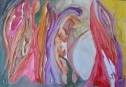 autres abstrait couleurs huile abstrait papier : L'EVEIL DU PRINTEMPS