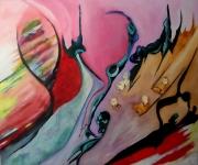 tableau autres musique orchestre surrealiste abstrait : LE CHEF D'ORCHESTRE