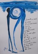 autres abstrait bleu amour abstrait poeme : THE BLUE RENDEZ-VOUS