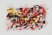 tableau abstrait peinture numerique abstraction lyrique : Composition Abstraction Lyrique