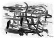 art numerique abstrait peinture numerique abstraction lyrique : Composition Abstraite
