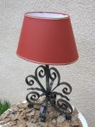 artisanat dart fer forge luminaires lampe deco decoration : Lampe Déco