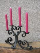 artisanat dart autres fer forge volute chandelier decoration : Chandelier