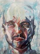 tableau personnages visage portrait emotions personnages : Le regard perdu