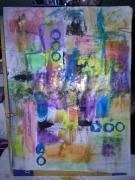 tableau abstrait l art ,c est ma vie : racine