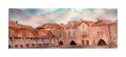 tableau architecture aquitaine dordogne bastide guyenne : Montpazier