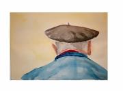 tableau personnages beret basque gascon personnage : Le béret