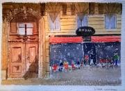 tableau villes paris bar scene de rue : Le Royal