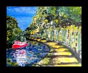 tableau paysages canal midi garonne paysage : Le canal
