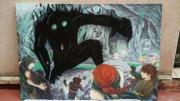 tableau scene de genre fantastique manga combat spectaculaire : La faille