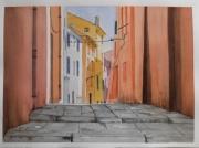 dessin architecture isere le versoud ruelle ensoleillee : Ruelle ensoleillée