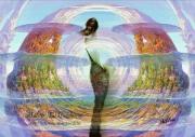 art numerique personnages tourbillon nuage femme montagne : kalma