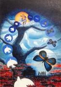 tableau autres colombe paix peinture mystique espoir : Métamorphose