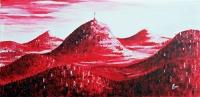 Chaîne des Puys Rouge - Vue d'artiste