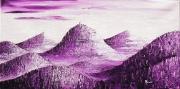 tableau paysages auvergne chaine des puys puy de dome tableau monochrome v : Chaîne des Puys Violette - Vue d'artiste