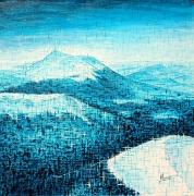 tableau paysages volcan auvergne montagne unesco : Chaîne des Puys 28