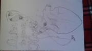 dessin abstrait dessin drawing with pencil dessin au crayon : Listen to your heart