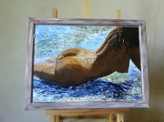tableau nus femme nudite suggeree erotisme : Merci Lucien