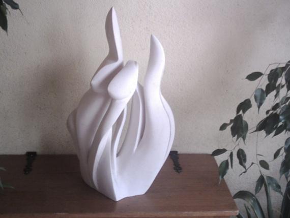 SCULPTURE corps plante sculpture pierre Nature morte Taille Pierre  - plante