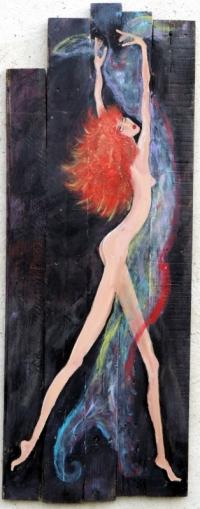 Danseuse au voile de couleur
