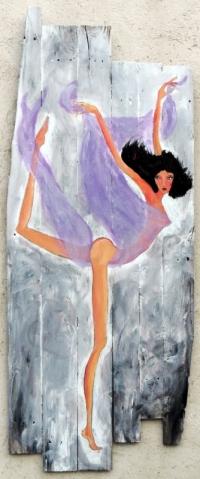 danseuse au voile violet
