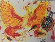 """tableau animaux : Phoenix """"3"""""""