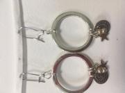 bijoux boucle d'oreille etoile anneau perle : Boucles rondes avec pendentifs