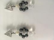 bijoux autres boucle d'oreille perles triangle goutte d'eau : Perles et gouttes d'eau