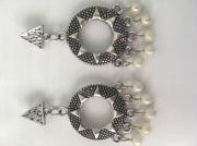 bijoux autres boucle soleil perle triangle : Soleil perles