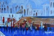 tableau scene de genre harem oriental femmes coutume : HAREM