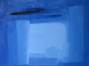 tableau abstrait paris france huile bleu : ABSTRACTION 3