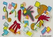 dessin abstrait paris france divers formes : ABSTRACTION 3