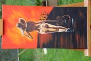 tableau personnages : Femme a la guitare